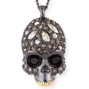 Alexis Bittar Skull Crystal Encrusted Necklace!